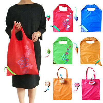 1PC Reusable Fruit Grocery Handbag Eco Shopping Bags Tote Storage Pouch Foldable