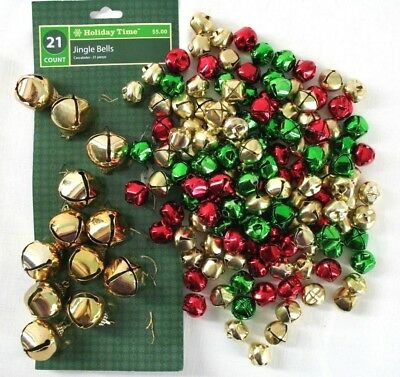 Christmas Metal Jingle Bells With Multi Color Balls For Craft Decorations 100Pcs