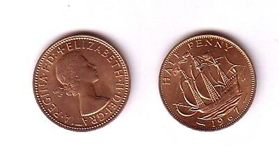 GB Pre decimal Half-penny Coin 1967 in Mint condition from my own collection