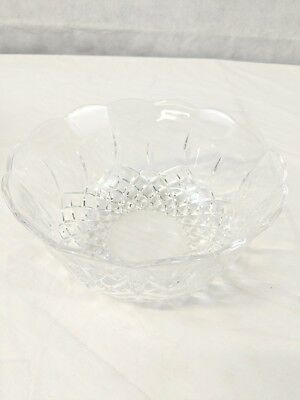 "(G7) Vintage Cut Press Glass Bowl - Nice Quality 6 3/4"" Inch - Beautiful Bowl!"