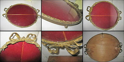 French antique bronze oval solid frame years 1850- 1900. In good condition.