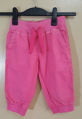 Girls Next 3/4 Length Hot Pink Summer Trousers 7 Years