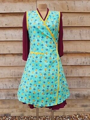 New Green Vintage 1940's Style Wrap Over Apron War Time Tea Room Theatre 22 - 26