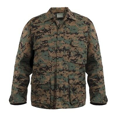 finest selection new concept new collection DIGITAL WOODLAND CAMO BDU Style SHIRT Military US Marine ...