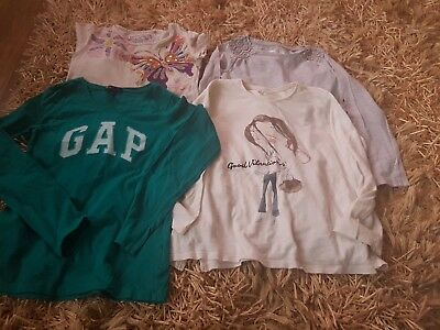 BUNDLE OF 4X GIRLS top - UK SIZE 8-9 YEARS Zara,Gap, NEXT