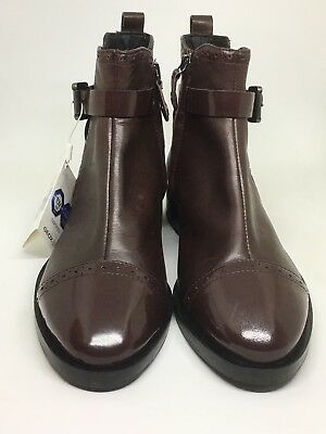 af583c0867b GEOX WOMEN'S DONNA Brogue C Ankle Boots In Burgundy UK Size 2, EU 35