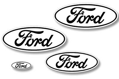 Ford Oval Logo Decal 2PK Set for F150 F-150 RAPTOR Sticker Overlay 10-14 RED