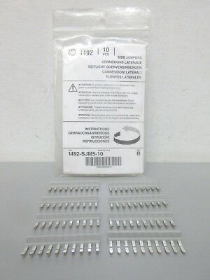 Bag of 8 New Allen-Bradley 1492-SJM5-10 Ser. B Side Jumpers