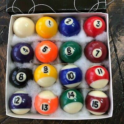Vintage Miniature Billiard Pool Table Balls
