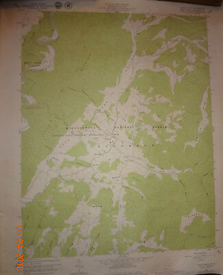 Lot of 2 Vintage Geological Survey Topographic Maps West Virginia