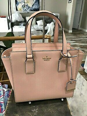 4539636482e05a Kate Spade Cameron Street Small Hayden Satchel Crossbody Bag Warmvellum  Msrp 298