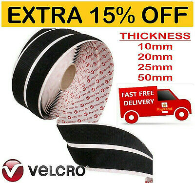 Sticky VELCRO Strips HOOK & LOOP Genuine Brand PS14 Self Adhesive Black & White