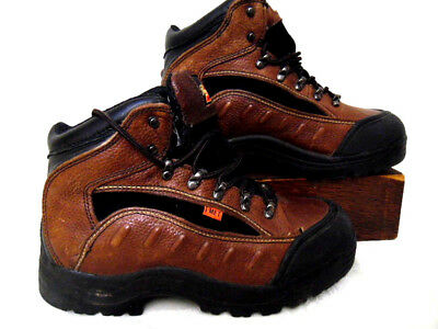 99cdc200910 THOROGOOD I-MET BLACK LEATHER HIKING SAFETY WORK Boots sz 11 oil ...