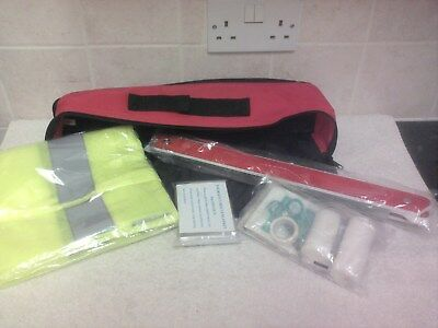 Genuine Renault Emergency Safety Kit - Triangle First Aid Kit Hi Vis Blanket