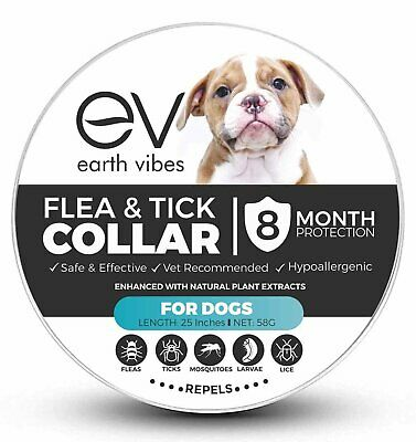 Earth Vibes Natural Chemical Free Non-Toxic Flea and Tick Collar For Dogs