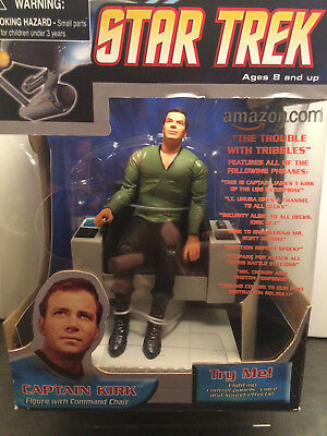 Diamond Select Star Trek ELECTRONIC TALKING COMMAND CHAIR Kirk Figure Art Asylum