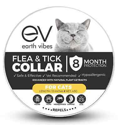 Earth Vibes Natural Chemical Free Non-Toxic Flea & Tick Collar For Cats