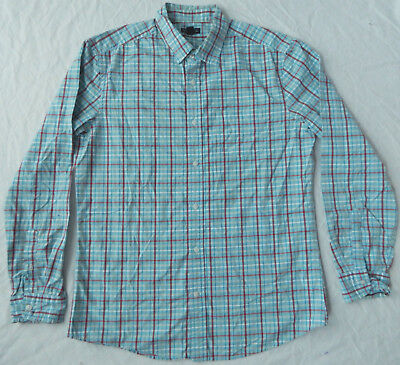 Ralph Lauren Long Sleeve Dress Shirt Green And Blue Plaid~NWT~