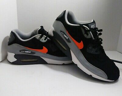 newest 80081 dc384 Nike Air Max 90 Ltr Leather Premium Black-Grey-Silver Orange 666578-005