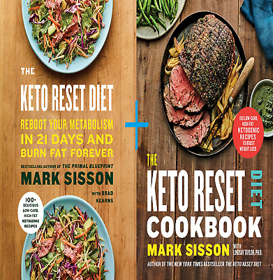 The Keto Reset Diet Cookbook + Reboot Metabolism by Mark Sisson, Brad & Lindsay