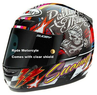 Suomy Apex Rolling Thunder Motorcycle Full Face Helmet Race Ready Made In Italy