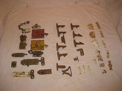 LARGE  Lot of Misc. Vintage Latches Brackets Locks and Window Hardware LQQK!!