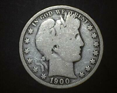 1901 BARBER HALF-DOLLAR  **GOOD-to-VERY GOOD    6~393761-LB6RA15