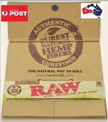 5 X Raw Organic Hemp Artesano King Size Slim - Don't buy Fake RAW papers