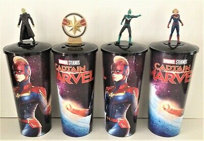 Marvel Comics: Captain Marvel 2019 Movie Theater Exclusive Cup Topper Set
