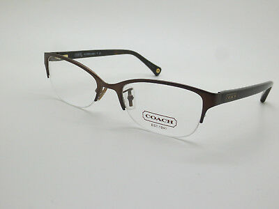 350a8b222818 NEW COACH HC 5046 Leigh 9155 Satin Brown Dark Tortoise 50mm RX Eyeglasses