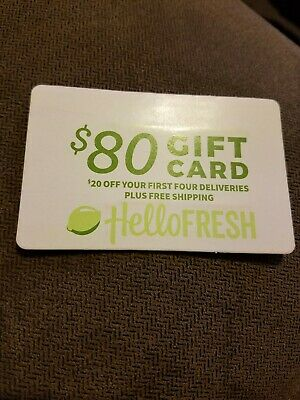 Hello Fresh $80 Gift Card- $20 Off 4 orders-Email Delivery/Exp 5-31-19