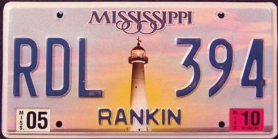 """MISSISSIPPI """"  LIGHTHOUSE - RANKIN COUNTY """" Graphic License Plate"""