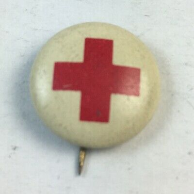 Antique 1917 WWI-Era American Red Cross Pin Authentic.
