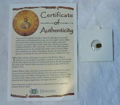 Widow's Mite Coin Roman Empire Jesus Bible Collection Coin