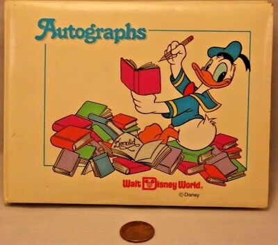 Walt Disney World Donald Duck Autograph Book with Seven Signatures