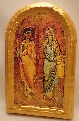 Prophets Moses & Aaron Christianity Orthodox Mt Sinai Icon Art One of A Kind