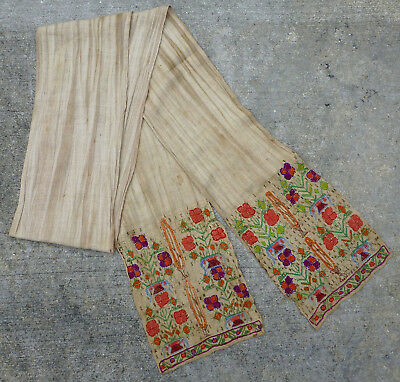 Antique Ottoman Turkish Silk Embroidered Sash Textile