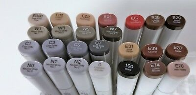 COPIC SKETCH MARKERS - Skin Tones - Neutrals Set Of 9