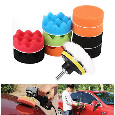 Kit UK Car Set For 5'' 12pcs Polishing Polisher Waxing Buffing Sponge 125mm Pads