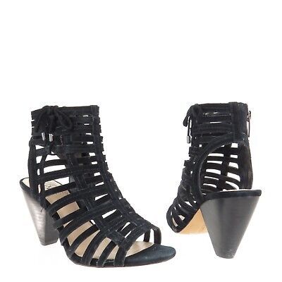 5a21805ebc9 Women s Vince Camuto Evinia Sandals Strappy Black Gladiator Heels Size 6 M
