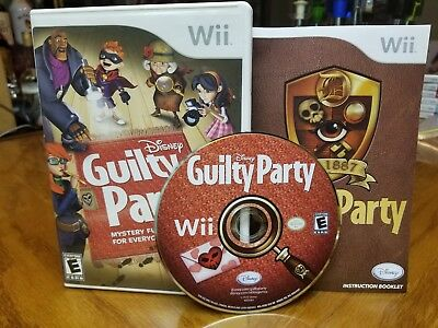 Disney Guilty Party (Nintendo Wii, 2010) COMPLETE Tested FREE SHIPPING