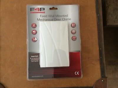 F4P Fixed Wall Mounted mechanical 80 DB Hardwire Door Bell - White - BNIB x 10
