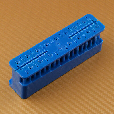 Blue Autoclavable Dental Root Canal Ruler Endodontic File Holder Measuring Block