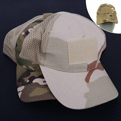 bbe5883a156 Men Women Baseball Cap Half Mesh Military Army Camo Hat Trucker Camouflage