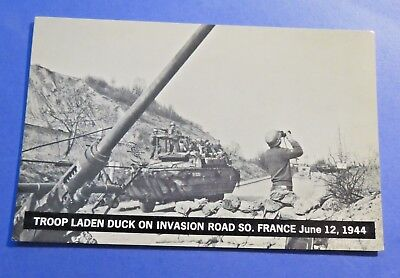 Army France Invasion Road June 12 1944 REAL PHOTO Vintage Old Postcard PC4721