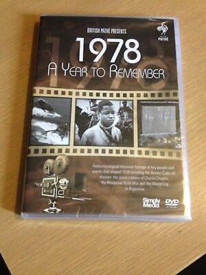 NEW! A Year To Remember 1978 [DVD] Ideal for 40th birthday/40 yr old's Xmas