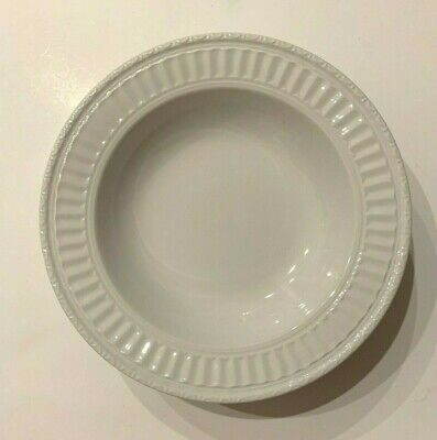 J. C. Penny Home Collection Italiana White Bowl Ribbed Rim Cereal Salad Soup