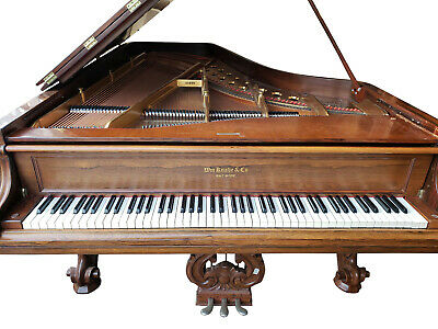 RESTORED Antique: Knabe Rosewood Victorian 7' Concert Grand Piano w/Player