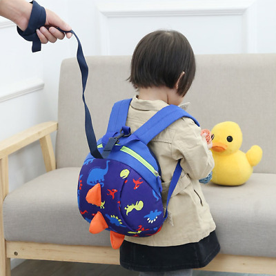 Cartoon Kids Bag Baby Toddler Dinosaur Safety Harness Strap Backpack With Reins