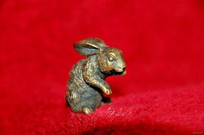 Vintage brass bronze Rabbit hare statue art home decor metal figure sculpture